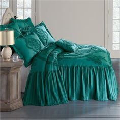 Madison Flounce Bedspread Collection from Brylane Home. Like the ivory and purple...mdb