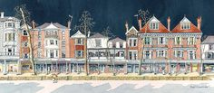 Tunbridge Wells, Invites, Cathedral, Sketch, Watercolor, Ink, Travel, Water Colors, Sketch Drawing
