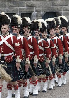 The Royal Regiment of Scotland: changing the guard at Edinburgh Castle.