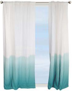 Hlc Me Piece Sheer Window Curtain Grommet Panels Aqua Blue