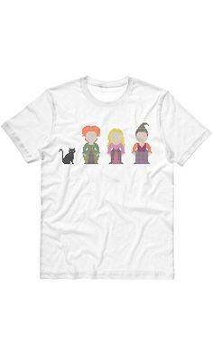 TeesAndTankYou Women's Sanderson Sisters (Hocus Pocus) T-Shirt Small White Best Price