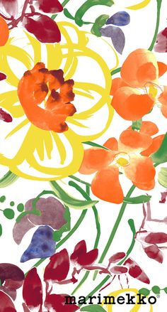 Marimekko Floral Pattern iPhone Wallpaper