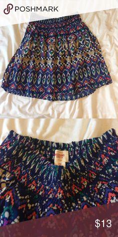 Target Brand Massimo flowy skirt. Brand new, only worn once, Mossimo tribal design skirt Mossimo Supply Co Skirts
