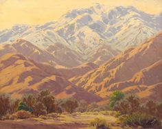 ~ Sam Hyde Harris - Palm Springs Winter, oil on canvas
