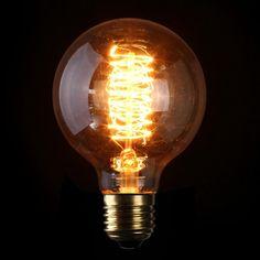4266dc93b61 G80 E27 60W 110/220V 80mm x 118mm Incandescent Bulbs Retro Edison Bulb Sims,