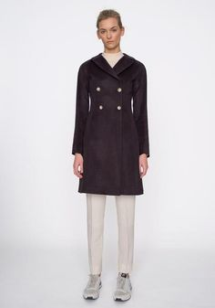 Kambi Coat in Aubergine Fall Winter, Autumn, Ready To Wear, Coat, Skirts, How To Wear, Jackets, Shopping, Beautiful