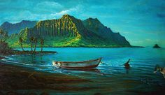 Kaneohe Bay Early Morn by Joseph Ruff Framed Prints, Canvas Prints, Joseph, Tapestry, Fine Art, Wall Art, Artist, Artwork, Poster