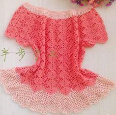 Blusa con patrones crochet