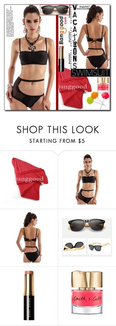 """""""Sexy Swimwear by Banggood 4/20"""" by esma178 ❤ liked on Polyvore featuring Bobbi Brown Cosmetics and Smith & Cult"""