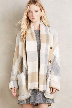 Plaid Blanket Coat