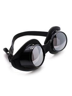 Black Aluminum Goggles   Cyber Rave Burner Goggles