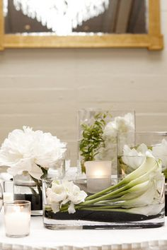 "gardenias orchids reception centerpieces white ""calla lilies"" ""tealight weddings & events"""