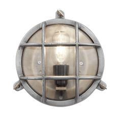 Bulkhead Outdoor & Bathroom Wall Light   Flush Mount   8 Inch Gunmetal   Lighting – Industville Retro Lighting, Industrial Lighting, Loft Lighting, House Lighting, Lighting Ideas, Flush Mount Lighting, Wall Sconce Lighting, Sconces, Vintage Industrial