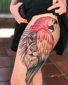 TATTOO E ARTE (@tattoo2me) • Fotos e vídeos do Instagram Dope Tattoos, Mini Tattoos, Leg Tattoos, Body Art Tattoos, Tattoo Drawings, Calf Tattoo, Lion Tattoo, Father Tattoos, Tatuagem Old School