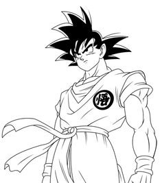 gohan with zeta sword in dragon ball z printable coloring page ... - Super Saiyan Goku Coloring Pages