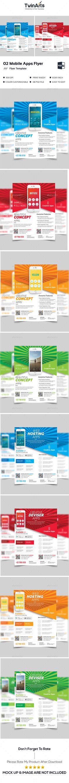 145 Best Mobile App Flyer Images On Pinterest Flyer Template