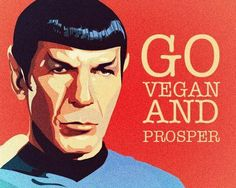 Star Trek's Mr Spock and the actor that played him, Leonard Nimoy were both vegetarian. Maze (08/09/2013)