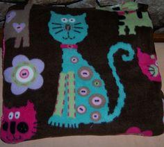 New Handmade Cats Flowers Blanket Pillow Pink Purple Blue Green Christmas | eBay