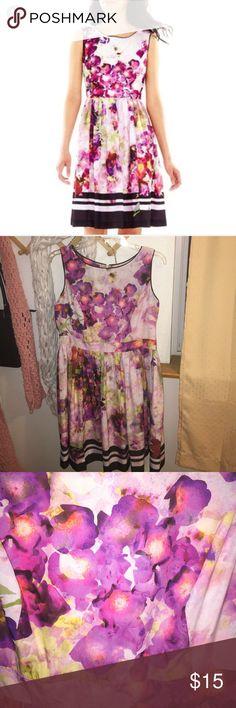 Liz Claiborne floral watercolor dress size 14P Liz Claiborne floral dress Liz Claiborne Dresses