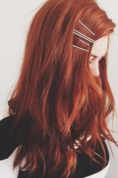 Hair accessory: red hair long hair hair clip hair dye