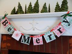 Christmas Decorations Be Merry Holiday by anyoccasionbanners