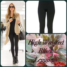 Black High Waist Leggings These comfy and affordable leggings are high waisted for extra coverage. One size fits all. 92% Polyester, 8% Spandex. (This closet does not trade or use PayPal) Pants Leggings