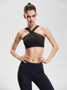 a87dbab5c8143 Mesh Oblique Fitness Bras