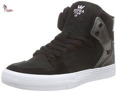 Supra WOMENS VAIDER, Sneakers Hautes femme - Noir (BLACK / GUNMETAL- WHITE BMT), 36 EU - Chaussures supra (*Partner-Link)