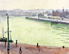 The Athenaeum - The Port of Dieppe (Albert Marquet - ) Henri Matisse, Rio Sena, Art Et Nature, Robert Doisneau, France, Oil On Canvas, Fine Art, Pictures, Paintings