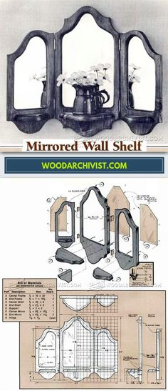 Mirrored Wall Shelf Plans - Furniture Plans and Projects | WoodArchivist.com