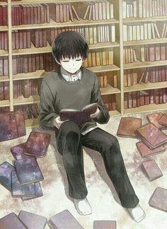 Tokyo Ghoul Kaneki Ken and his books