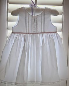 Have you ever noticed that babies come in groups? You hardly have one addition to your circle of friends and family. I have three new gir. Beach Dresses, Flower Girl Dresses, Wedding Dresses, Toddler Summer Dresses, Couture Sewing, Heirloom Sewing, Sewing For Kids, Needle And Thread, Smocking