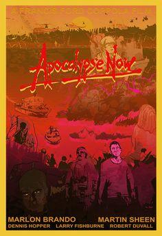 BROTHERTEDD.COM - nrlowe-design: poster, APOCALYPSE NOW 2020. Dennis Hopper, Martin Sheen, Robert Duvall, Marlon Brando, Apocalypse, Cinema, Movie Posters, Prints, Movies