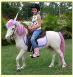 Unicorn Party Horse - perhaps I could convince the local pony party lady to dress up her horse...