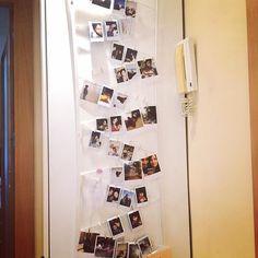 Portafotos handmade para nuestro recibidor #handmade #portafotos #mardargent #africandreamland #pinterest #jo #polaroid #fujifilm #rincon #detalles