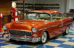 1956 chevrolet tail light gas filler closed and open. Black Bedroom Furniture Sets. Home Design Ideas