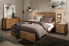 Trinell Queen Bedroom Set – Replicated oak grain takes the look of rustic reclaimed wood on this queen panel bed. The modern farmhouse style is at home in the master or guest bedroom. Trinell Queen Bedroom S Rustic Master Bedroom, King Bedroom Sets, Bedroom Decor, Bedroom Ideas, Bedroom Designs, Master Bedrooms, Rustic Bedroom Sets, Modern Bedroom, Girls Bedroom