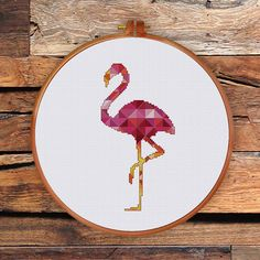 Geometric flamingo pattern geometric cross stitch by ThuHaDesign----------$5.50