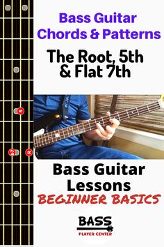 A beginner level bass lesson showing you the pattern chord root, & flat with details and video instruction and song examples showing the use of the chord. Bass Guitar Scales, Bass Guitar Chords, Guitar Chords Beginner, Learn Guitar Chords, Bass Guitar Lessons, Guitar Solo, Guitar For Beginners, Music Guitar, Playing Guitar