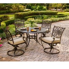 Darby Home Co Barryton 5 Piece Metal Dining Set