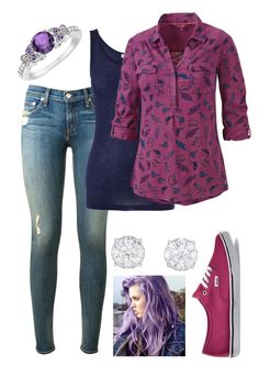 Untitled #347 by bands-and-and-anime on Polyvore featuring Fat Face, Clu, rag & bone, Vans and Allurez