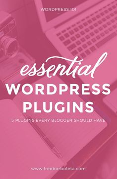Whether you're just starting a blog or have been blogging on WordPress for a while, there are five plugins you must have in order to run a smooth blog. Click on this pin to learn more! WordPress for beginners