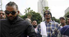 """SNOOP DOGG AND THE GAME HOST GANG SUMMIT IN LA TO UNITE COMMUNITY TOGETHER.   The West Coast rappers are looking to curb violence in the community with """"Time To Unite: United Hoods + Gangs Nation."""""""