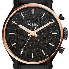 Fossil Original Boyfriend Sport Three-Hand Black Leather Watch ES4112