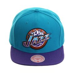 3c34129d2a8d4 Mitchell   Ness Utah Jazz 1996 Snapback - 2T Light blue