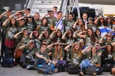 """Israel welcomes young men and women from North America who volunteered to become soldiers in the Israeli Army. New Olim (immigrants) on the """"Soldier's Flight"""" right after landing in Israel #israel #idf"""