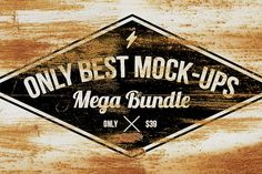 Only Best Mock-ups Mega Bundle #customfonts #presentationmockups #badgetemplates #psdlogos #photoeffects #photoshopactions