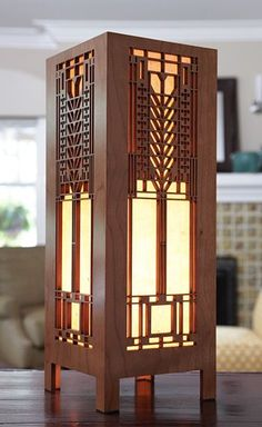 Tree of Life Lightbox ~ Frank Lloyd Wright's celebrated art glass window from the Darwin Martin House provides the inspiration for this intriguing accent lamp.