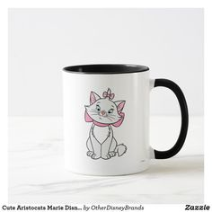 Cute Aristocats Marie Disney Mug. Cat Coffee Mugs Baby Mickey Mouse, Marie Aristocats, Cat Coffee Mug, Cat Mug, Cute Kittens, Personalized Coffee Mugs, Personalized Gifts, Disney Mugs, Cute Disney