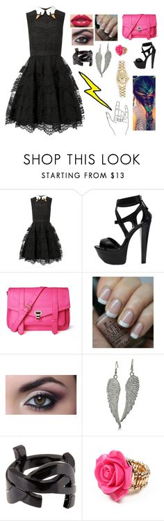 """""""Meeting Dan § Phil {by accident;while on a date}"""" by pokeyprongs ❤ liked on Polyvore featuring RED Valentino, Gianmarco Lorenzi, OPI, Yves Saint Laurent, Amrita Singh, Rolex and Savsimangines"""